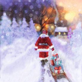 Charity Christmas Cards Living Room Traditional Gloss Finish Xmas
