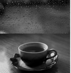 rain running down the window