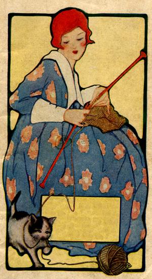 knitting redhead