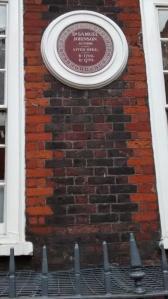 Plaque on Samuel Johnson's House