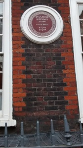Plaque on Samuel Johnson's House