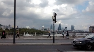 early  evening view Waterloo Bridge