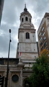 Church on the site of  the entrance to London  Bridge