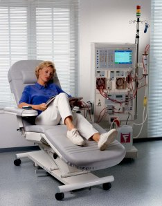 ( Dialysis Treatment – she doesn't come with the chair.)