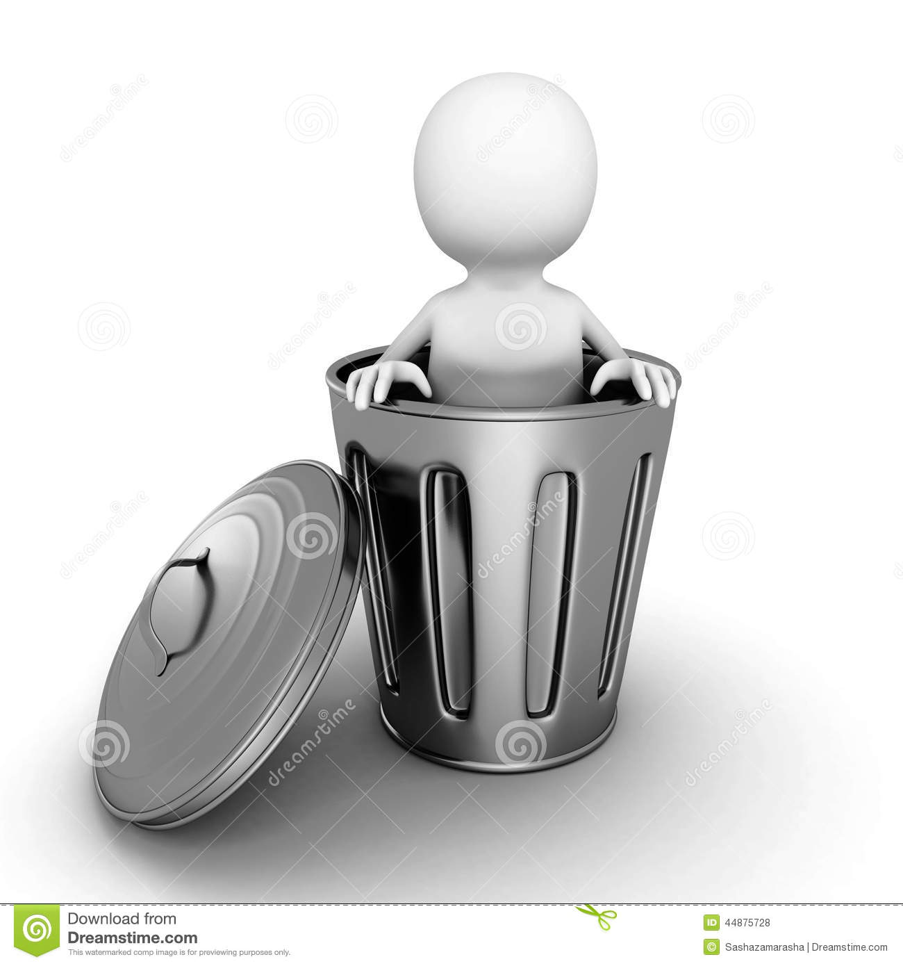 d-small-person-metallic-trash-can-render-illustration-44875728
